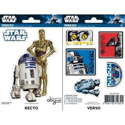 Star Wars R2-D2 / C3PO Stickers x 5