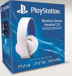 Wireless Stereo Headset 2.0 Valkoinen PS4/PS3/PS Vita