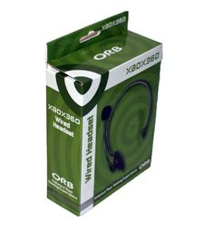 Wired Headset Xbox (Black) 360 ORB palautuskappale