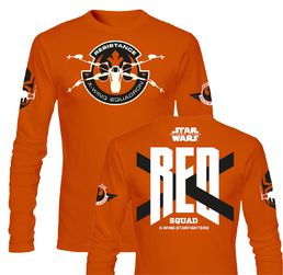 Star Wars Force Awakens Red Squad Long Sleeve Orange
