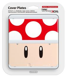 New Nintendo 3DS Cover Plate Red Mushroom
