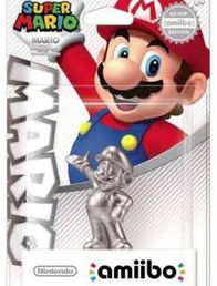 Amiibo Super Mario Collection Silver Mario hahmo