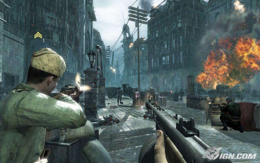 Кадр из игры Call of Duty: World at War. Компьютерные игры / Зомби-нацисты