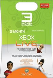 Live 3kk Gold Card Xbox 360