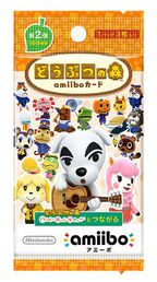 Series 2 Animal Crossing amiibo cards Pack (3 Set)