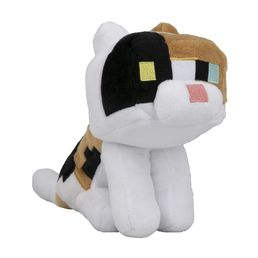 Minecraft Happy Explorer Calico Cat Plush -lelu