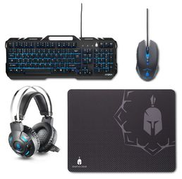 Spartan Gear Hydra Gaming Combo (Keyboard,mouse,headset,mousepad)